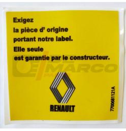 "Sticker Renault ""EXIGEZ LA PIÈCE D'ORIGINE"""