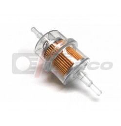 Fuel filter largely universal from plastic,for fuel hose 5-7mm