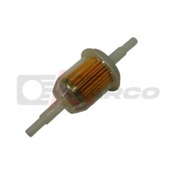 Fuel filter universal from plastic,for fuel hose with 5-7mm inside diameter