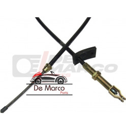 Hand brake cable front on the left for Renault 4 1108cc GTL, rear right for R4 F6 Station Car from 1983