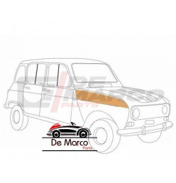 Lamierato superiore passaruota interno anteriore destro Renault 4 tutti i modelli (Alta Qualita')