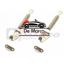 Front hood fixing set (Chromed Kit)