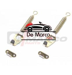 Set fissaggio cofano anteriore (Kit cromato)