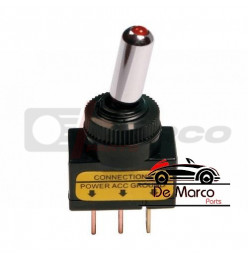 Toggle switch with red led light