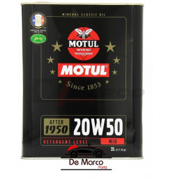 Motul engine oil 20w50 mineral multigrade, for classic cars