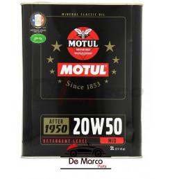Olio motore Motul 20w50 minerale multigrado, per auto d'epoca